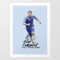 chelsea fc Art Prints featuring Frank Lampard - Chelsea FC Print by KieranCarrollDesign
