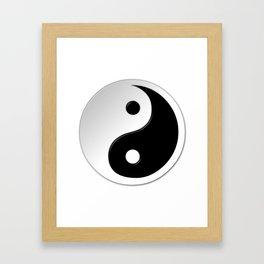 Yin Yang Symbol Framed Art Print
