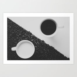 Black and White Coffee Art Print