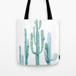 Cacti Fam Turquoise Tote Bag