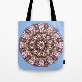 Floral mandala-style, Pink blossoms Tote Bag