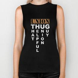 Union Thug Pro Labor Union Worker Protest Dark Biker Tank