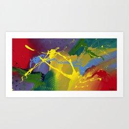 Uprising - Abstract painting Art Print