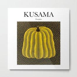 Kusama - Pumpkin Metal Print