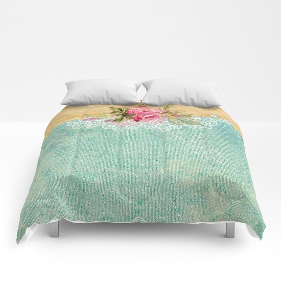 Pretty Vintage Rose #6 Comforters