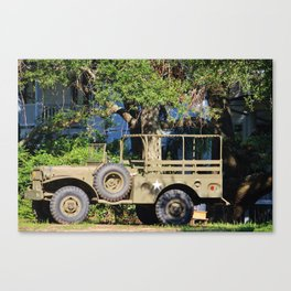 Military Jeep Canvas Print