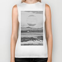 gray Biker Tanks featuring Gray Waterside by Jane Lacey Smith