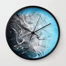 Atmospheric Cyan Movement Wall Clock