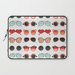 Sunglasses Collection – Red & Mint Palette Laptop Sleeve