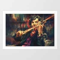galaxy Art Prints featuring Virtuoso by Alice X. Zhang