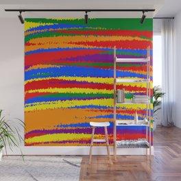 LGBT Flag Color Grunge Rough Stripes Wall Mural