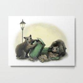 Critters Eating Garbage # 1 Metal Print