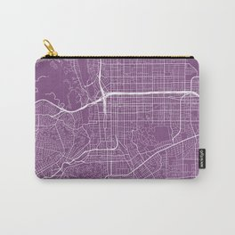 Pasadena Map, USA - Purple Carry-All Pouch