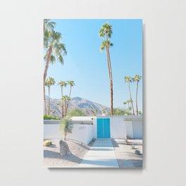 PS, Blue Door 3 Metal Print
