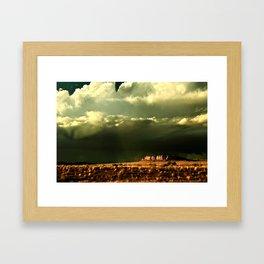 Heaven and Mesa Framed Art Print