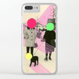 Fluo Conversations Clear iPhone Case