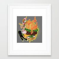 junk food Framed Art Prints featuring Junk Food by Artetak