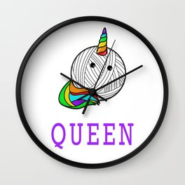 Crochet Queen - Funny Yarn Crocheting Wall Clock