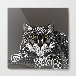 snow leopard lead Metal Print