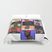hiphop Duvet Covers featuring HipHop Legends by Akyanyme