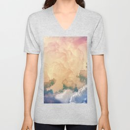 Dreamy Clouds Unisex V-Neck