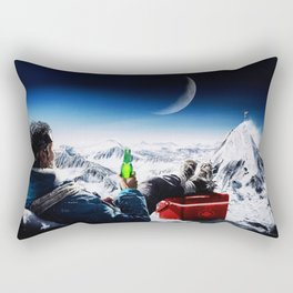 Funny Alpinist with beer Rectangular Pillow