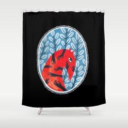 Smug red horse 2. Shower Curtain