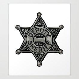 Deputy Sheriff Badge Art Print