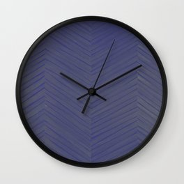 A Chevron in Blues and Greens Wall Clock
