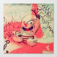 sticker Canvas Prints featuring Sticker Bomb by Susie Buckley