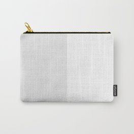 White and Pale Gray Vertical Halves Carry-All Pouch