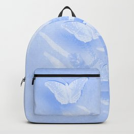 Beautiful butterflies and wattle with textured chevron pattern Backpack