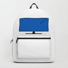 Computer Screen Bullet Holes Backpack