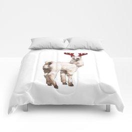 Christmas Baby Llama Reindeer Comforters