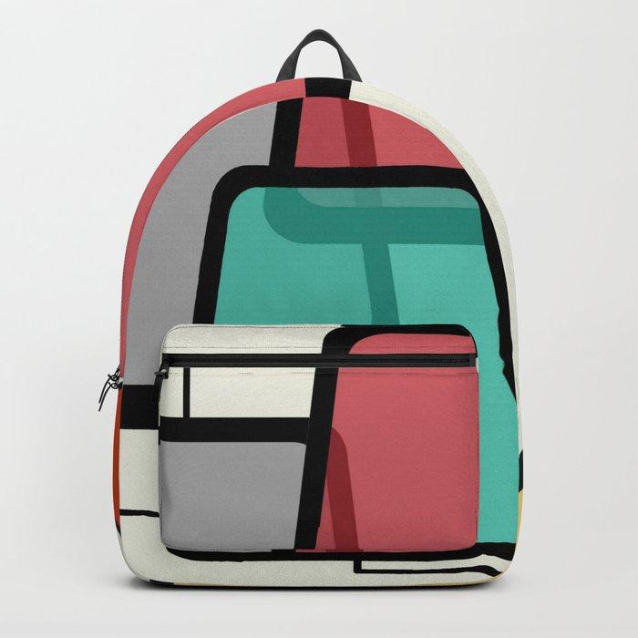 Mid-Century Modern Art Landscape 1.1 Backpack