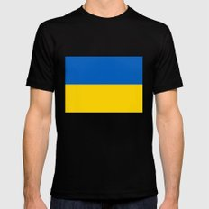 National flag of Ukraine, Authentic version (to scale and color) Mens Fitted Tee MEDIUM Black