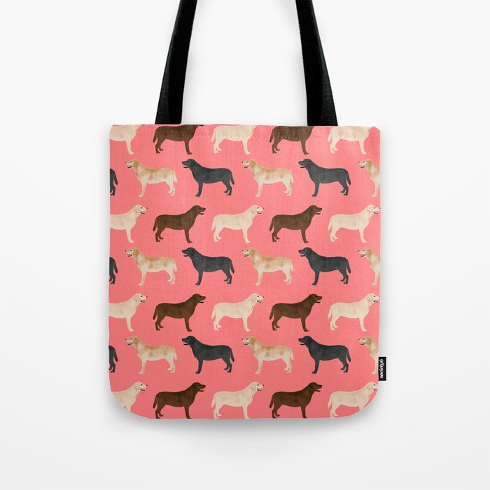 Labrador retriever coats of all colors dog breed pet portraits dogs pets unique pet themed gifts Tote Bag