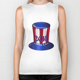 Uncle Sam 2018 Flag Hat Biker Tank