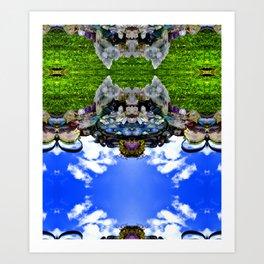 Bearded Crystal Bearcat Art Print