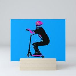 Scooter Cruiser - Scooter Boy Mini Art Print