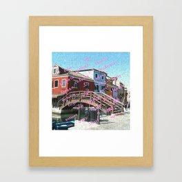 Burano 3 pink Framed Art Print