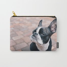 Bruce the Boston Terrier Pug Carry-All Pouch
