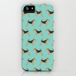 Airedale Terrier dog pattern cute gifts for dog lover pet friendly airedale terriers iPhone Case