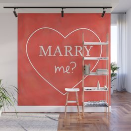 Valentines Day Marry Me Wall Mural