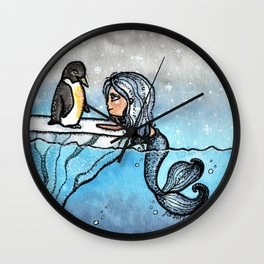 Antarctic Mermaid Wall Clock