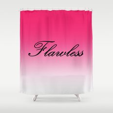 FlawleSS Pink Ombre Shower Curtain