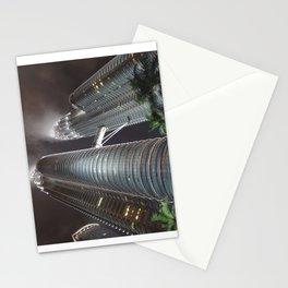 Singapore Petronas Towers Stationery Cards