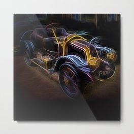 Fractal car vintage car23 Metal Print