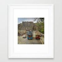 edinburgh Framed Art Prints featuring Edinburgh by Peaky40