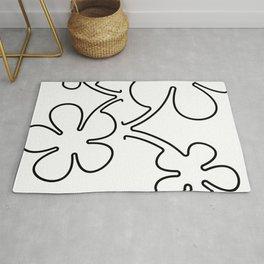 Flowers Illustration Rug
